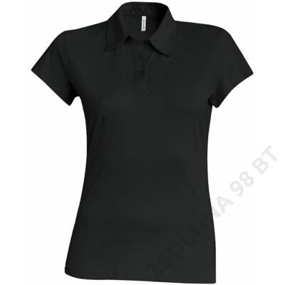 KA238 LADIES' SHORT SLEEVE JERSEY POLO, Black