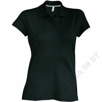 KA242 LADIES' SHORT SLEEVE PIQUE POLO SHIRT, Black