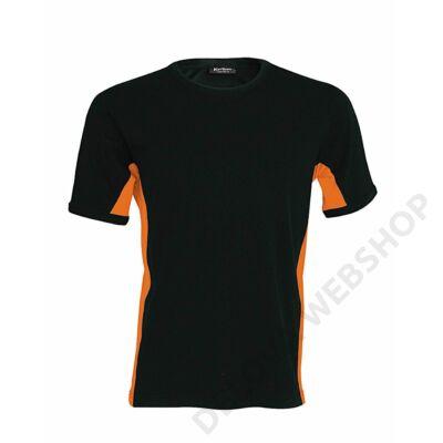 KA340 TIGER - SHORT SLEEVE BI-COLOUR T-SHIRT, Black/Orange