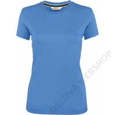 KV2105 LADIES' SHORT SLEEVE VINTAGE T-SHIRT, Vintage Blue