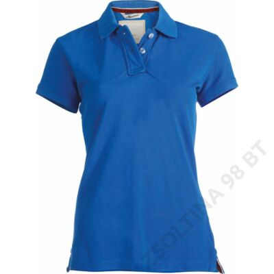 KV2201 LADIES' SHORT SLEEVE PIQUE POLO SHIRT KARIBAN VINTAGE, Vintage Blue