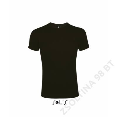 SO00580 IMPERIAL FIT MEN'S ROUND COLLAR CLOSE FITTING T-SHIRT, Deep Black