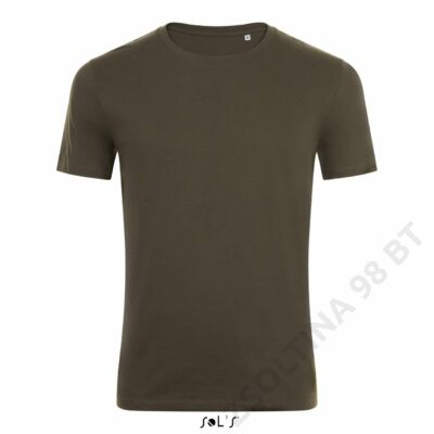 SO01698 MARVIN ROUND-NECK FITTED T-SHIRT, Army