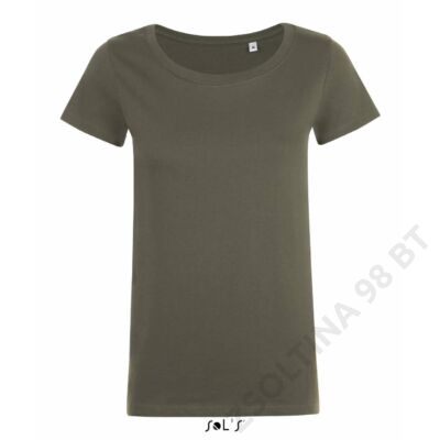 SO01699 MIA WOMEN'S ROUND-NECK FITTED T-SHIRT, Army