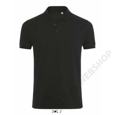 SO01708 PHOENIX MEN COTTON-ELASTANE POLO SHIRT, Black