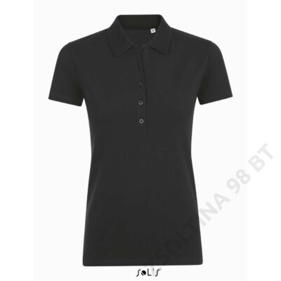 SO01709 PHOENIX WOMEN COTTON-ELASTANE POLO SHIRT, Black