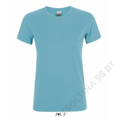 SO01825 REGENT WOMEN ROUND-NECK T-SHIRT, Atoll Blue