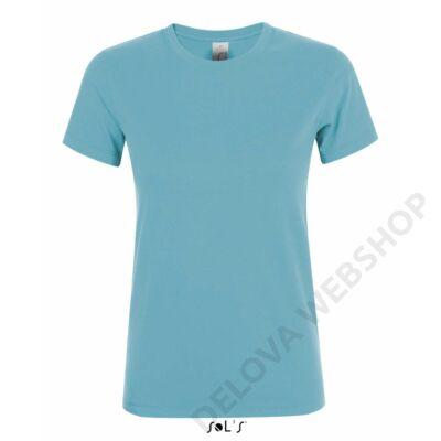 SO01825 REGENT WOMEN ROUND-NECK T-SHIRT, Atoll Blue