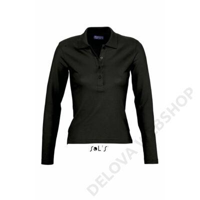 SO11317 PODIUM WOMEN POLO SHIRT, Black