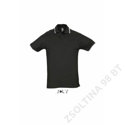 SO11365 PRACTICE MEN'S POLO SHIRT, Black/White
