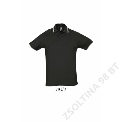SO11365 PRACTICE MEN'S POLO SHIRT, Black/White