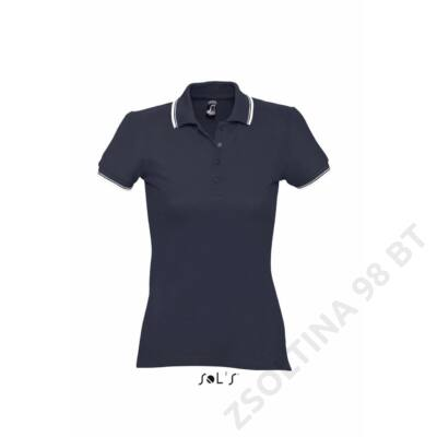 SO11366 PRACTICE WOMEN POLO SHIRT, Navy/White
