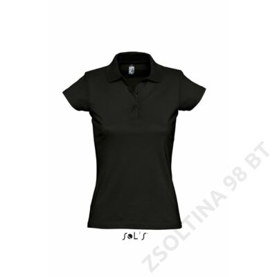 e11113dcb6 SO11376 PRESCOTT WOMEN POLO SHIRT, Deep Black -Zsoltina 98 BT.