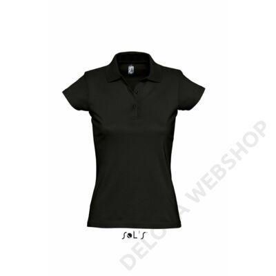 SO11376 PRESCOTT WOMEN POLO SHIRT, Deep Black