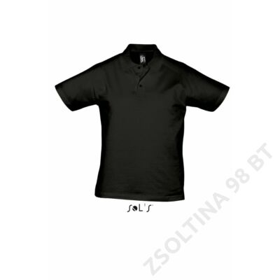 SO11377 PRESCOTT MEN POLO SHIRT, Deep Black