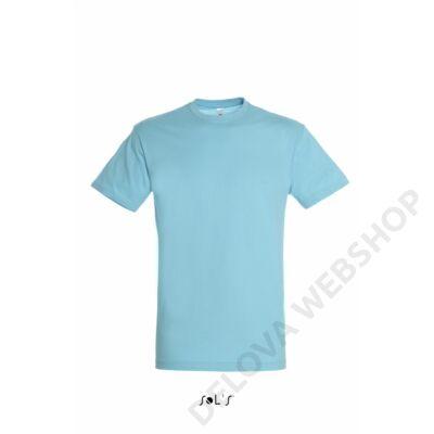 SO11380 REGENT UNISEX ROUND COLLAR T-SHIRT, Atoll Blue