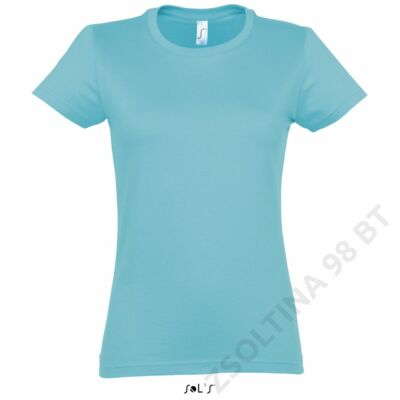 SO11502 IMPERIAL WOMAN ROUND COLLAR T-SHIRT, Atoll Blue