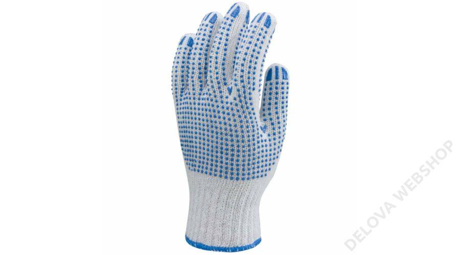 a455ae37a3 Kötött pes/pamut fehér kesztyű, két oldalon kék pettyek -9 -Zsoltina ...
