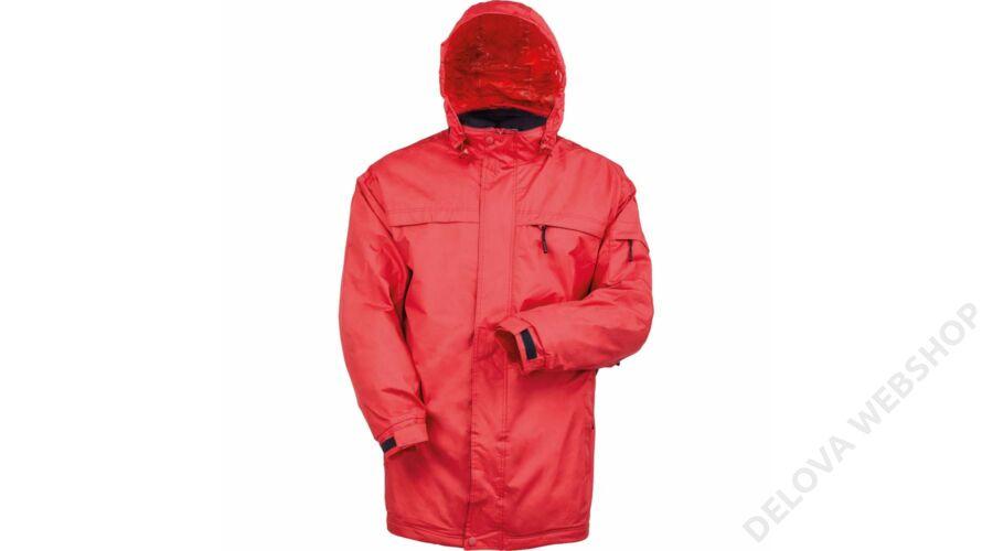 POLE-NORD piros bélelt kabát -L -Zsoltina 98 BT. 7f9220d9c9