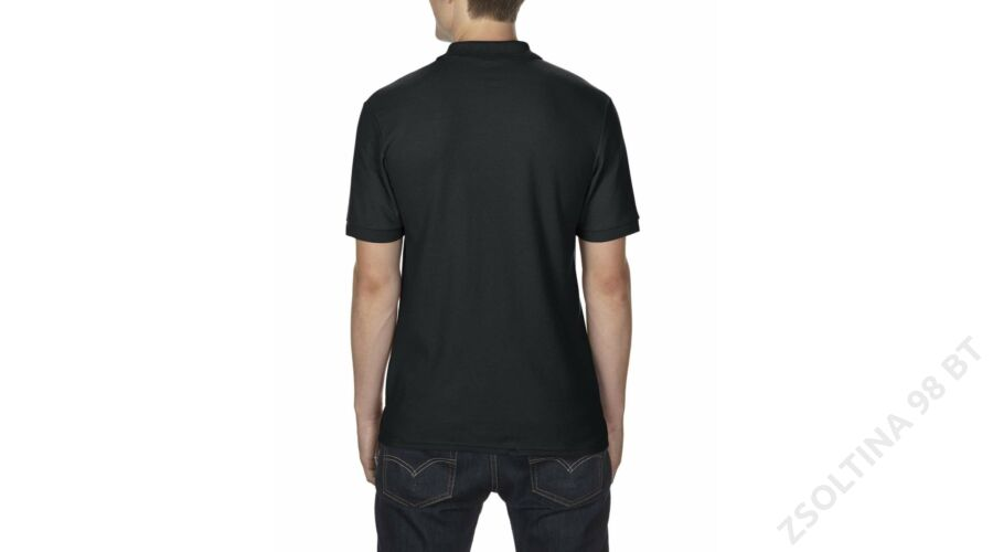 27348d2d9e GI75800 DRYBLEND® ADULT DOUBLE PIQUÉ POLO, Black -Zsoltina 98 BT.